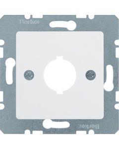 Płytka czołowa z otworem fi18,8mm do gniazd wyrównania potencjału pojedyncza biały BERKER B.Kwadrat