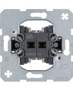 Łącznik podwójny przyciskowy 2 zestyki zwierne oddzielne zaciski wejściowe BERKER One.platform