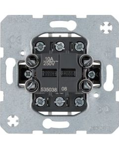 Łącznik podwójny przyciskowy 2x zestyk zmienny z oddzielnymi zaciskami wejściowymi BERKER One.platform